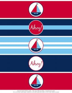 Free Printable Nautical Water Bottle Labels