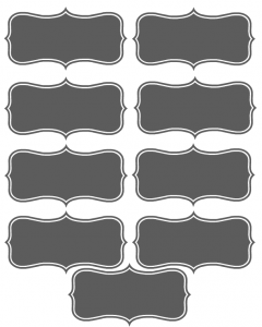 Free Printable Place Cards Template