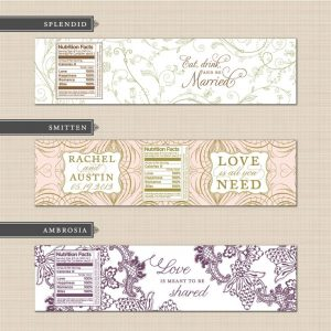 Free Printable Wedding Water Bottle Labels