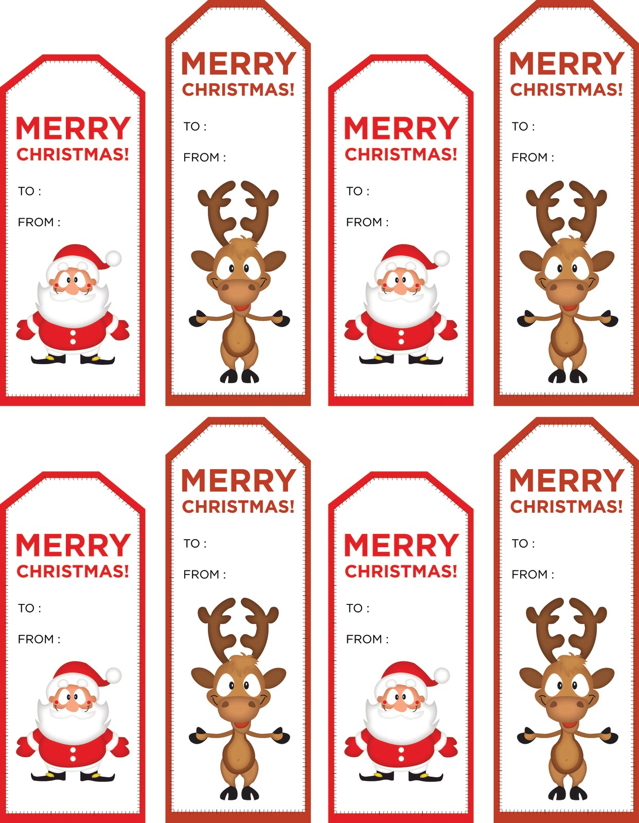 Unique printable christmas gift tags kitty baby love