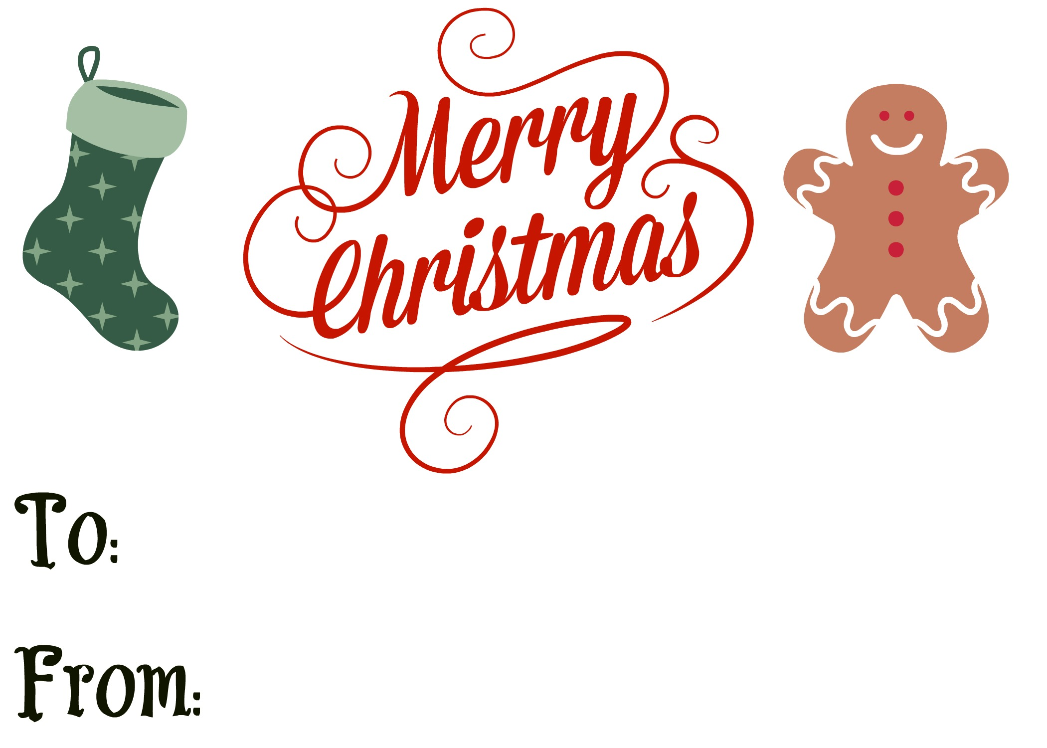 Free printable large christmas gift tags merry christmas and happy i negle Images