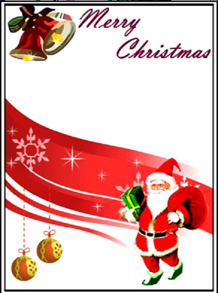 Lively image throughout printable christmas cards templates