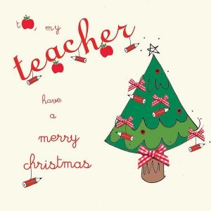 Printable Christmas Cards for Teachers