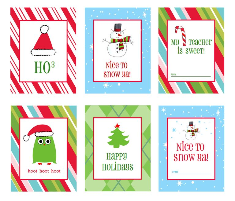 40 Unique Printable Christmas Gift Tags