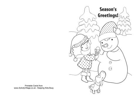 printable coloring christmas cards - Printable Coloring Christmas Pictures