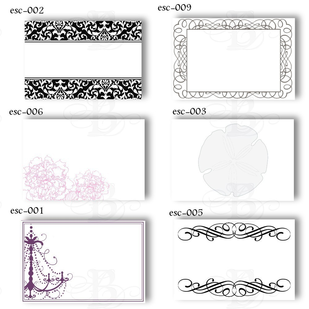 Adaptable image for printable place card template