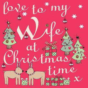 Small Printable Christmas Cards for Wife