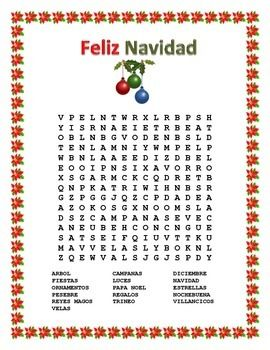graphic regarding Spanish Word Searches Printable identified as 36 Printable Xmas Phrase Appear Puzzles