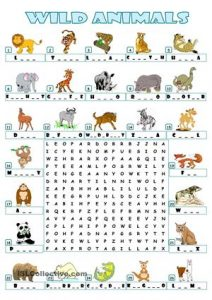 Wild Animal Word Search