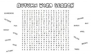 Autumn Word Searches
