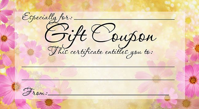 28 Cool Printable Gift Certificates Kitty Baby Love