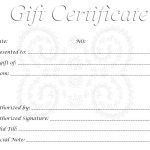 Free Gift Certificates Printable