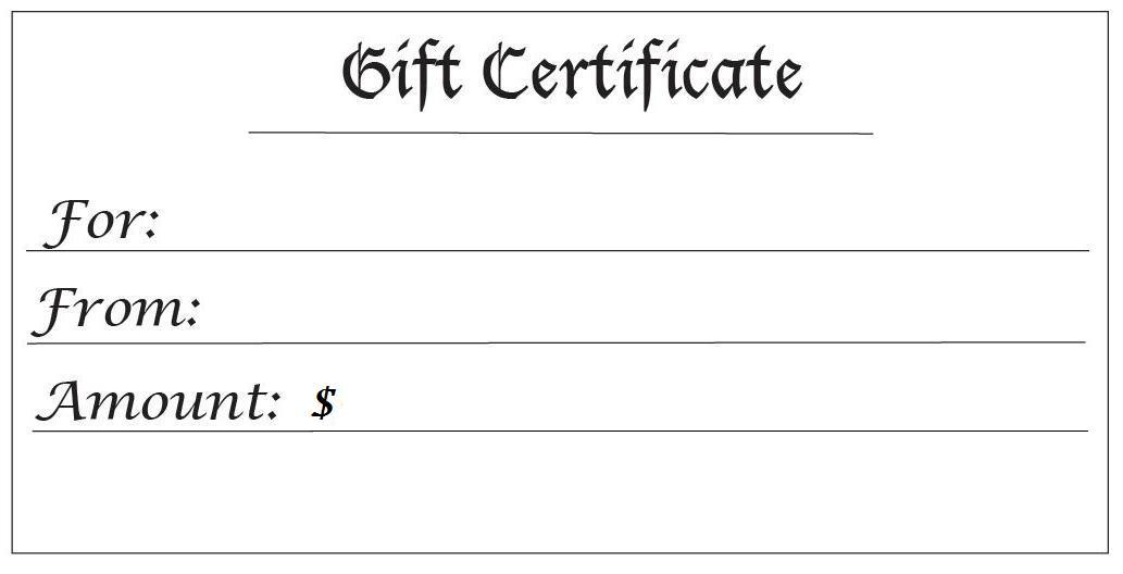 printable generic gift certificates  28 Cool Printable Gift Certificates | Kitty Baby Love