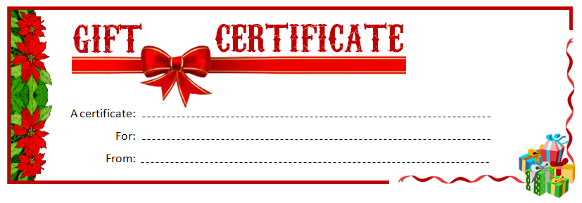 Doc585430 Christmas Certificates Templates Free Christmas – Printable Christmas Gift Certificates Templates Free