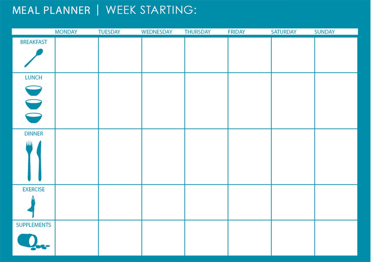 28 useful printable monthly meal planners