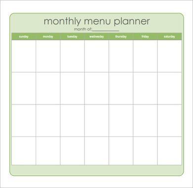 28 Useful Printable Monthly Meal Planners Kitty Baby Love