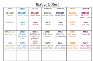 Monthly Meal Planner on a Budget