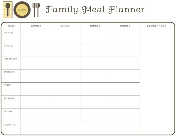 Meal Planning Organizer  PetitComingoutpolyCo