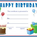 Printable Birthday Gift Certificates