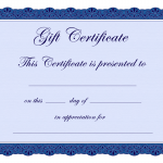 Printable Blank Gift Certificate Template