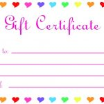 Printable Blank Gift Certificates
