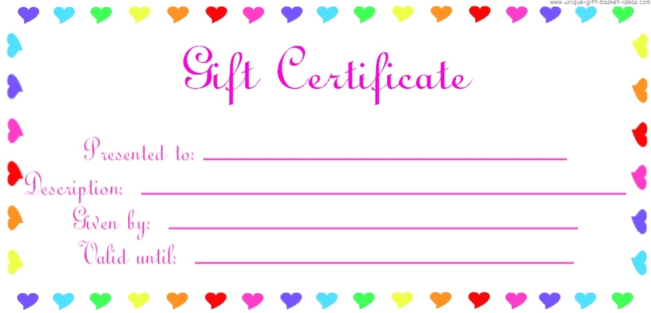 It's just an image of Irresistible Free Printable Gift Certificates Template