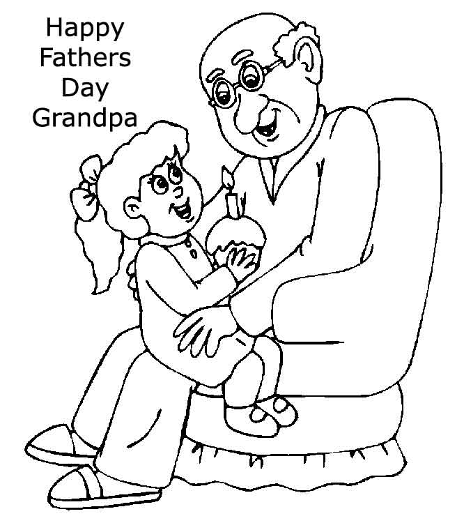 24 free printable father 39 s day cards kitty baby love for Happy fathers day grandpa coloring pages
