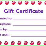 Printable Gift Certificates Online
