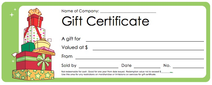 28 Cool Printable Gift Certificates – Free Printable Holiday Gift Certificates