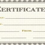 Printable Restaurant Gift Certificates