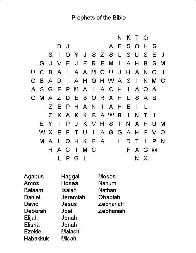 Religious - Word Search