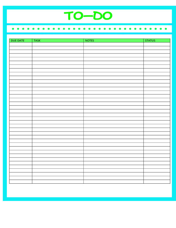 40 printable to do list templates kitty baby love