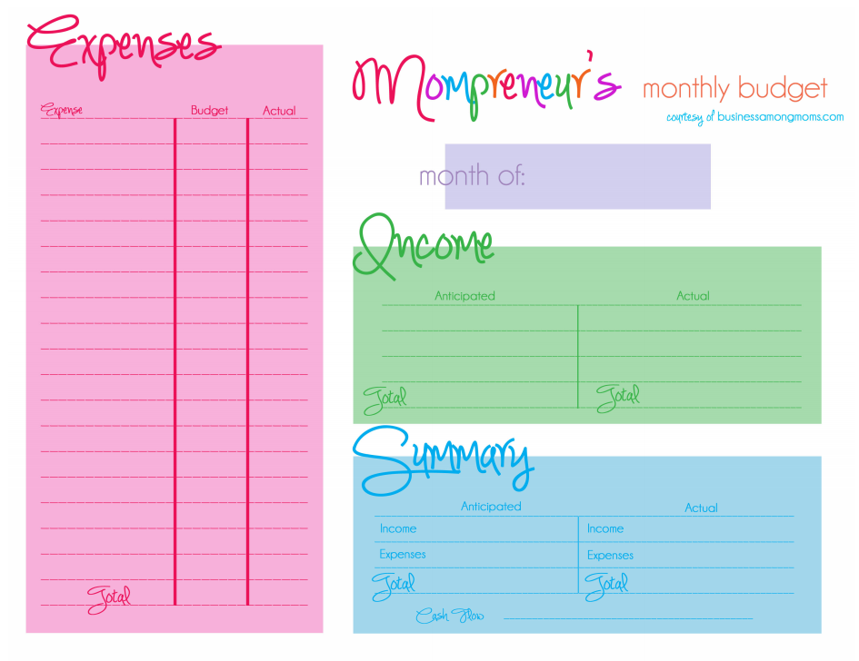Cute Monthly Budget Planner