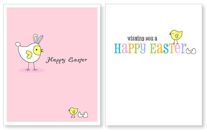 Free Printable Easter Cards  Kitty Baby Love