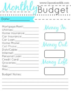20 Free Printable Monthly Budget Planners | KittyBabyLove.com