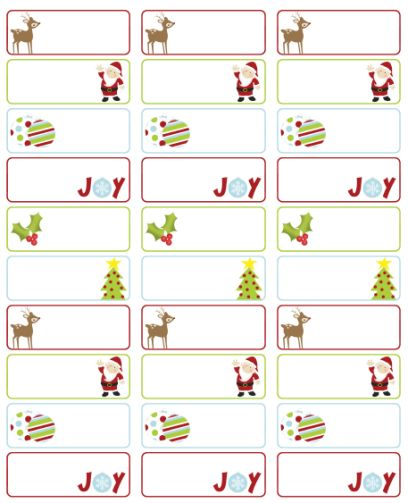 Christmas Return Labels Template from www.kittybabylove.com