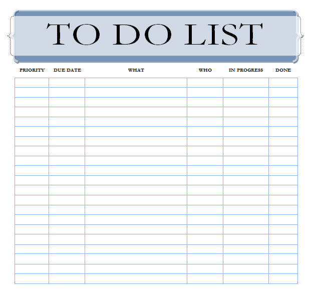 Accomplished image pertaining to printable to do list template