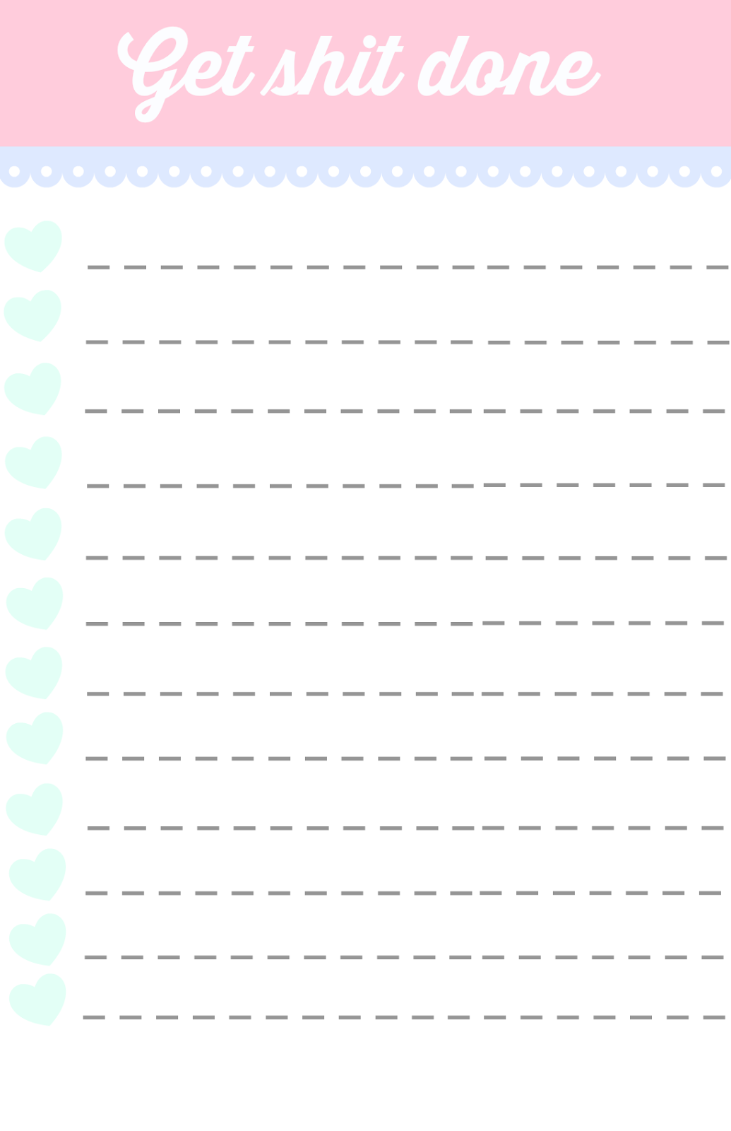 Préférence 40 Printable To Do List Templates | Kitty Baby Love RK99