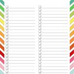 Master To Do List Printable