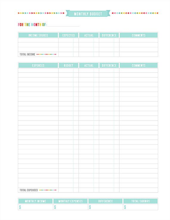 FREE Budget Planner Pages | Free Homeschool Deals