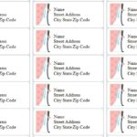 Printable Address Labels for Wedding Invitations