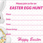 Printable Easter Cards Egg Hunt