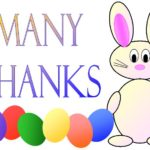Printable Easter Thank You Cards