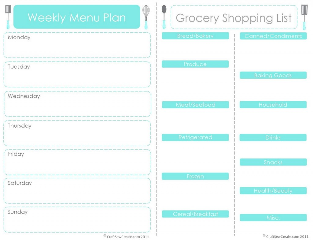 28 Free Printable Grocery List Templates – Grocery Template Printable