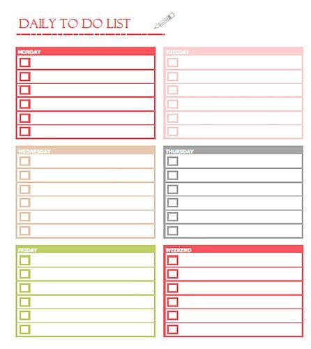 Printable To Do List Templates  Kitty Baby Love