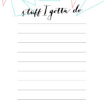 Printable To Do List Template