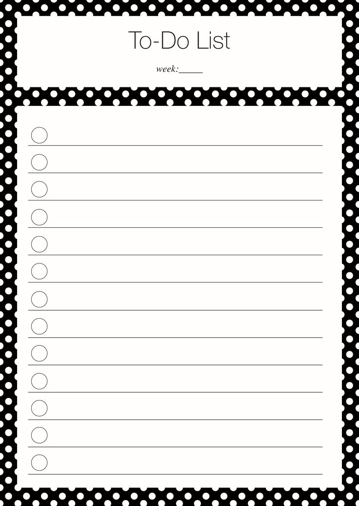 Divine image intended for cute printable to do list pdf