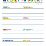 Printable Weekly To Do List