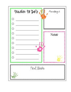 Teacher To Do List Printable