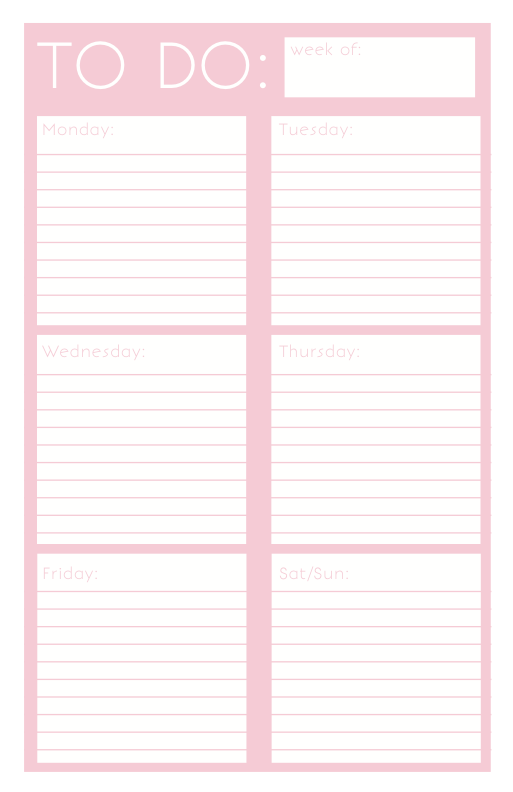 40 printable to do list templates kittybabylovecom